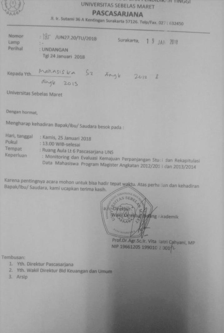 Monev Mahasiswa Pasca 2012-2013 2013-2014